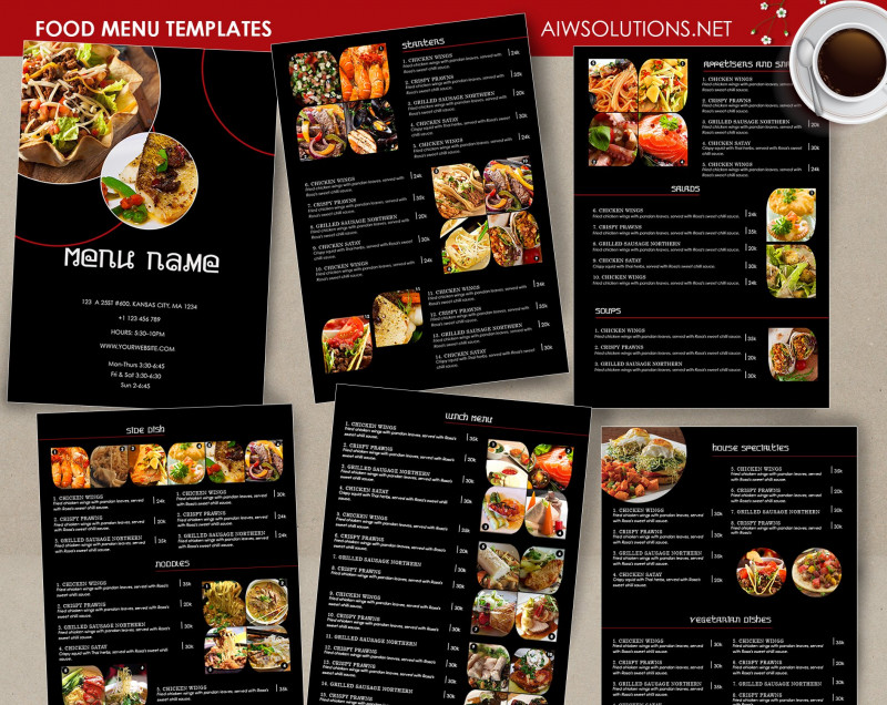 Free Restaurant Menu Templates For Word Awesome Food Menu Template Id26