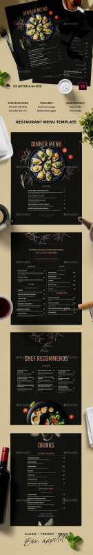 Free Restaurant Menu Templates For Word Unique Menu Templates From Graphicriver