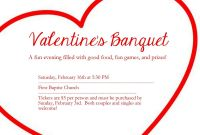 Free Valentine Menu Templates Unique Valentines Banquet Flier Valentines Valentines Day