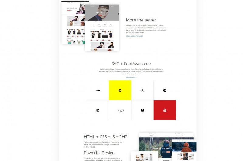 Free Website Menu Design Templates Unique Orange Multipurpose HTML Template Orangecalledrunfiles