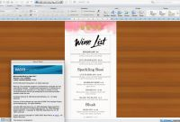 Free Wedding Menu Template For Word Unique Menu Id16