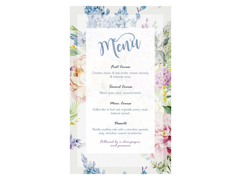 Free Wedding Menu Template For Word Unique Wedding Menu Template Black Onyx Templates Free Download