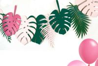 Hawaiian Menu Template New Tropical Leaf Party Banner Tropical theme Decorations In