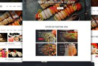 Hawaiian Menu Template Unique Japanese Restaurant Website Template for Sushi Bar