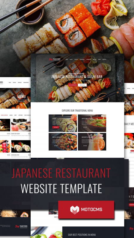 Hawaiian Menu Template Unique Japanese Restaurant Website Template For Sushi Bar