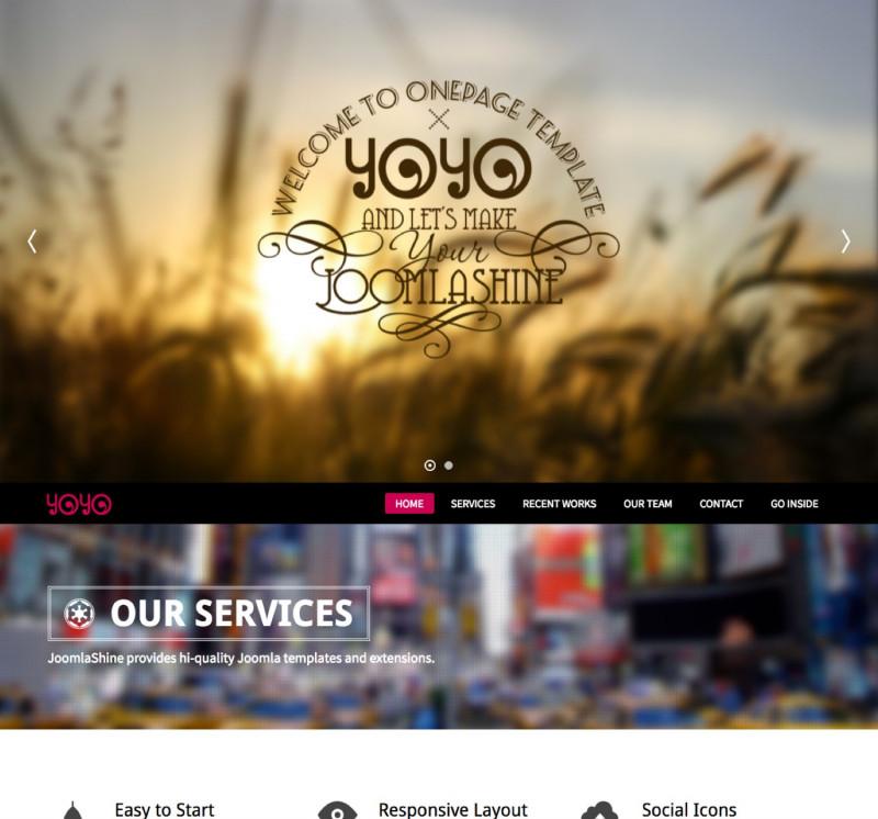 Horizontal Menu Templates Free Download Unique Jsn Yoyo 2 Creative One Page Joomla Portfolio Template