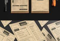 Menu Board Design Templates Free Awesome Vintage Menu Templates Psd Vintage Menu Menu Card Design