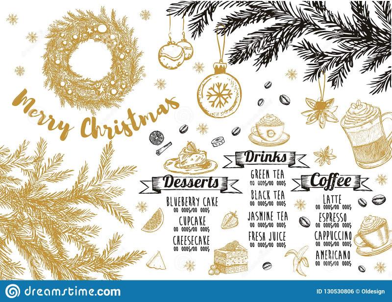 Menu Board Design Templates Free New Christmas Menu Restaurant Cafe Menu Template Design Food