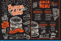 Menu Board Design Templates Free Unique Burger Restaurant Menu Vector Food Flyer for Bar and Cafe