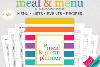 Menu Planner with Grocery List Template Awesome Printable Meal Planner Meal Planner Grocery List Weekly Meal Planner Pdf Printable Menu Planner Kit Meal Planner Letter Instant Download