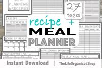Menu Planner with Grocery List Template Unique Meal Planner Meal Planning Printable Recipe Planner Menu Planner From the Minimalist Collection
