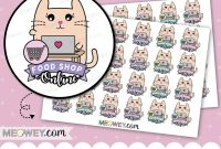 Menu Planner with Grocery List Template Unique Online Food Shop Stickers Shopping Cart Kawaii Cute Planner Trolley Shopping Meowey Store Kawaii Weekly List Groceries Plans Posted to You