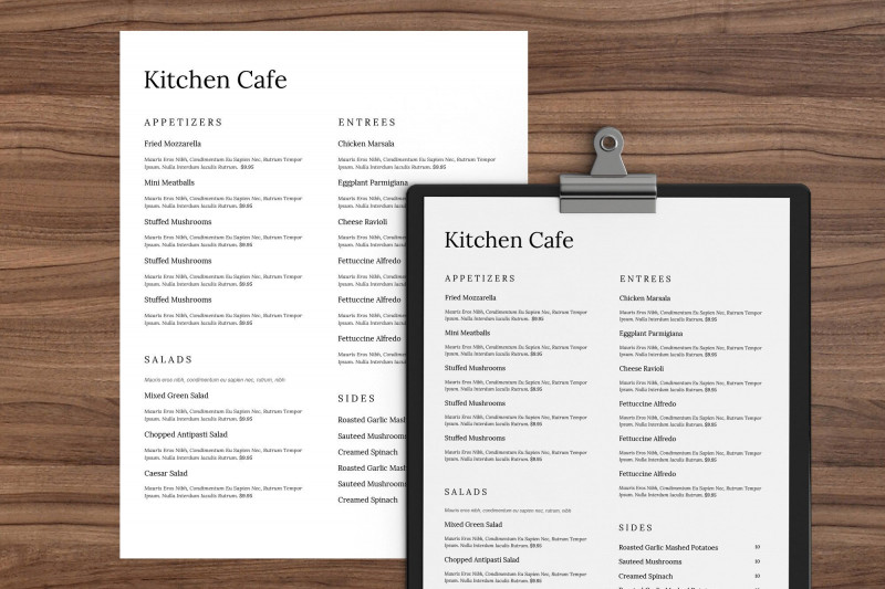 Menu Template Free Printable Unique Excited To Share The Latest Addition To My Etsy Shop
