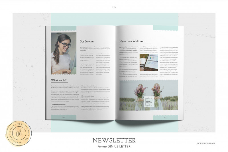 Menu Template Indesign Free New Newsletter Letterbrochurepapersize Newsletter