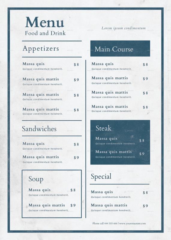 Menu Template Indesign Free Unique Food Menu Cafe Menu Design Restaurant Menu Design Menu Book