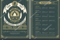 Mexican Menu Template Free Download Awesome Vintage Restaurant Menu Design Template Vector Layered
