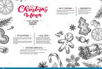 New Years Eve Menu Template Awesome Christmas Menu Winter Restaurant and Cafe Sketch Template