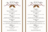 Rehearsal Dinner Menu Template New 25 Dinner Menu Samples In Psd Ai Eps Vector Examples