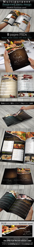Restaurant Menu Costing Template Awesome Menu Graphics Designs Templates From Graphicriver
