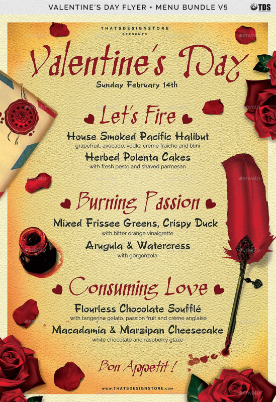 Salon Menu Templates Awesome Valentines Day Flyer Menu Bundle V5 Flyer Day