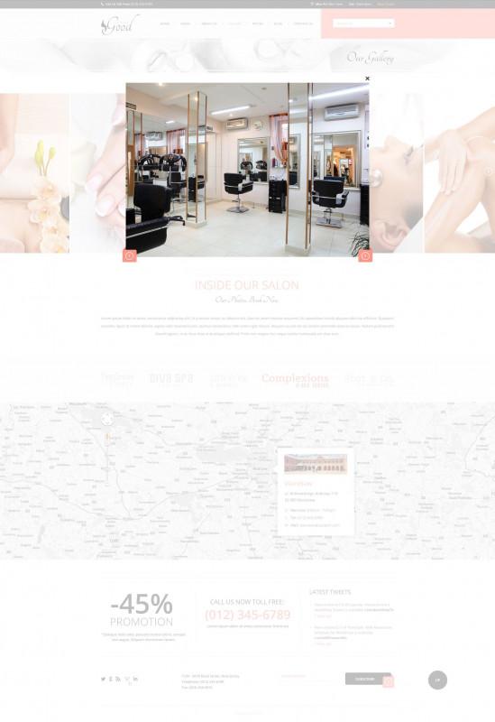 Spa Menu Template Awesome Good Looks Beauty Salon Spa Psd Template Salon Beauty