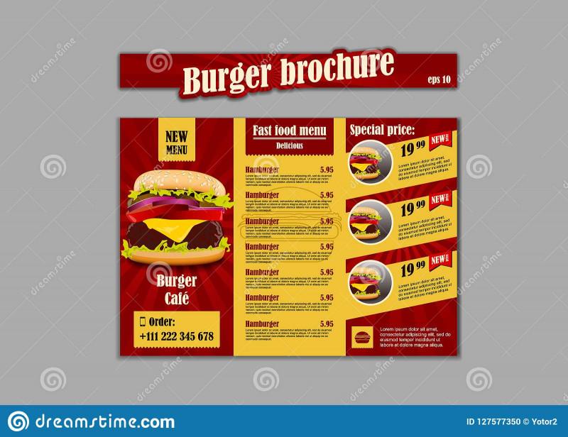 Takeaway Menu Template Free Awesome Menu Placemat Food Restaurant Brochure Menu Template Design
