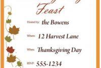 Thanksgiving Menu Template Printable New 68 Best Thanksgiving Invitations Images Thanksgiving