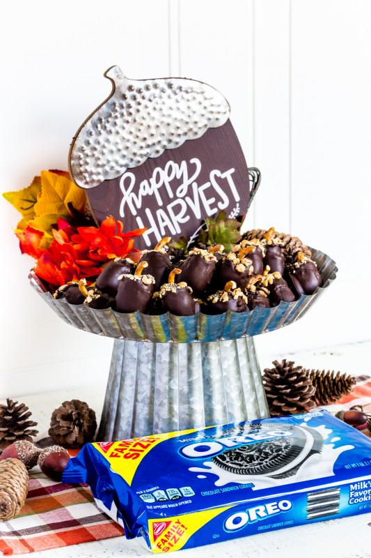 Thanksgiving Menu Template Printable Unique Acorn Oreo Balls Easy No Bake Dessert Confetti Bliss