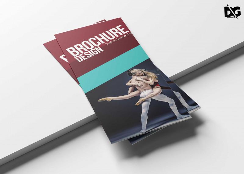 Tri Fold Menu Template Photoshop Awesome Dance School Tri Fold Brochure Design Template 99effects