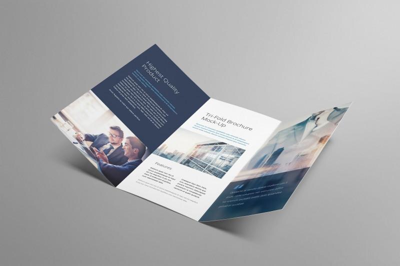 Tri Fold Menu Template Photoshop Awesome Tri Fold Brochure Mockup A4 Trifold Leaflet Folded