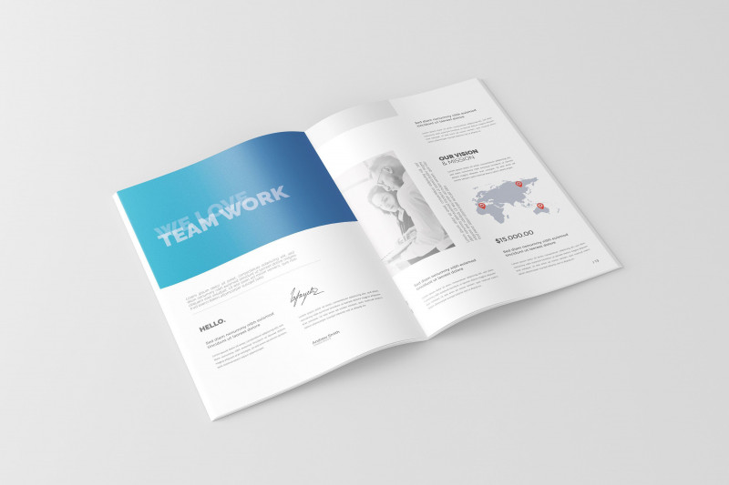 Tri Fold Menu Template Photoshop New A4 Brochure Catalog Mock Ups Texturepsdchangeablefiles