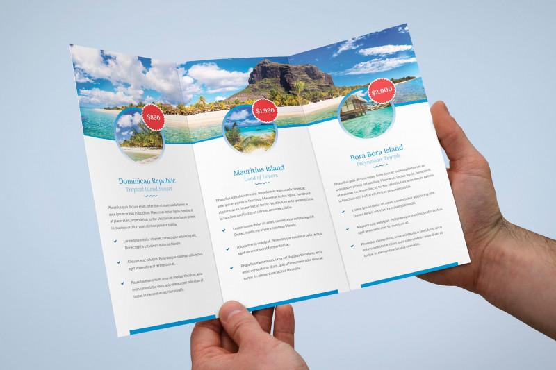 Tri Fold Menu Template Photoshop New Brochure Travel Agency Tri Fold By Artbart On Envato Elements