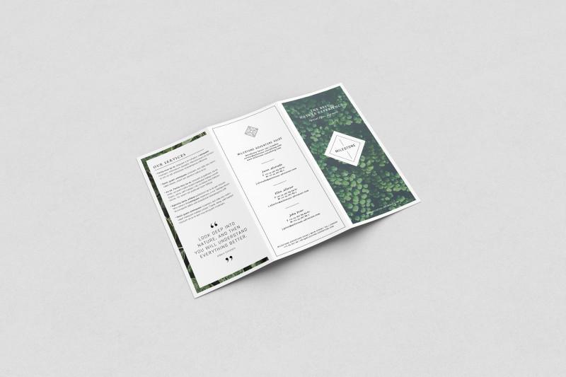 Tri Fold Menu Template Photoshop Unique Free Trifold Brochure Mockup On Behance