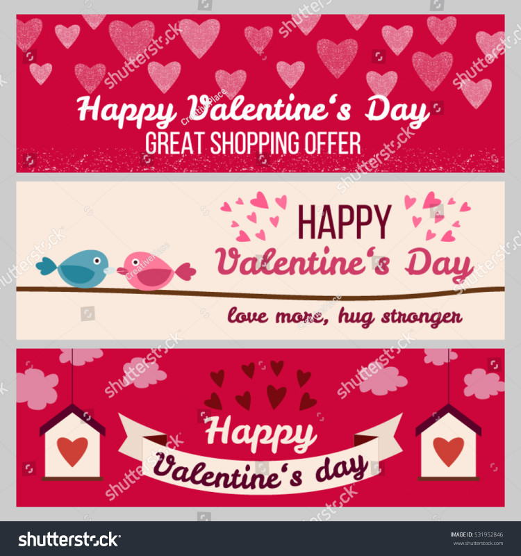 Valentine Menu Templates Free New Set Od Modern Flat Valentines Day Stock Vector Royalty Free