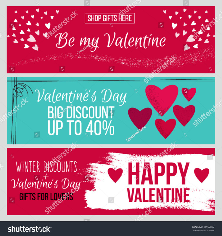 Valentine Menu Templates Free Unique Set Od Modern Flat Valentines Day Stock Vector Royalty Free