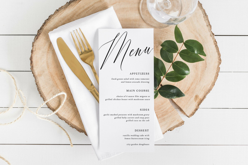 Wedding Menu Choice Template Unique Pin By Paper Vine Wedding Event Stationery On Paper Vine