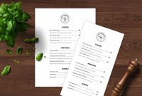 Weekly Dinner Menu Template Unique Menu Template Doc Ronal Rsd7 org