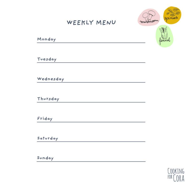 Weekly Menu Planner Template Word Awesome Weekly Menu Template For Daycare Blank Word Free Printable