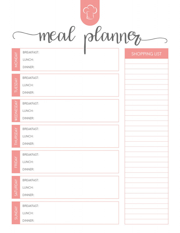 Weekly Menu Template Word Awesome Pin By Giselle Zarate On Diy Weekly Meal Planner Template