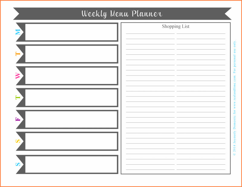 Weekly Menu Template Word New Weekly Menu Template Free Food Word Blank Download HTML