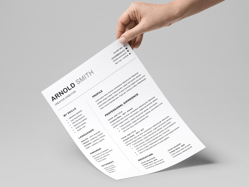 Word Document Menu Template New Ace Classic Cv Template Word Resumekraft