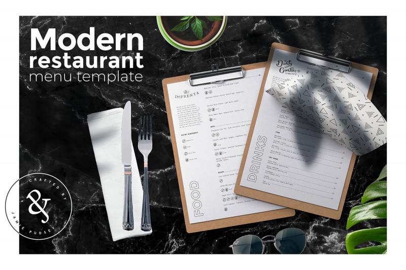 Word Document Menu Template New Modern Restaurant Menu Template